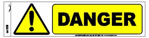 Pack of 6 Danger High Voltage Electric Warning Safety Label Sign Decal Sticker