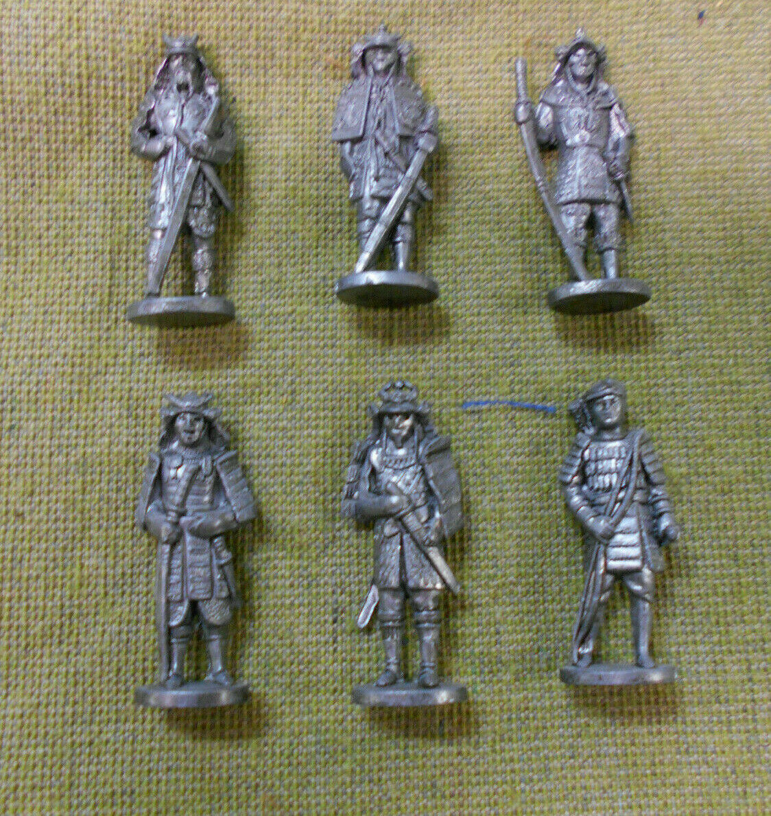 OO.   SET(6) OF 1990s  JAPANESE SAMURAI METAL FIGURES