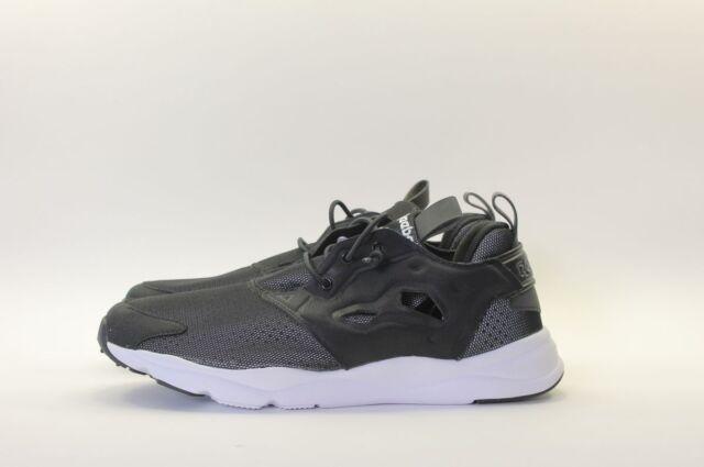 8b160d5b0ec0 Reebok Furylite RFT Black White 3m Reflective Mens Running Shoes ...
