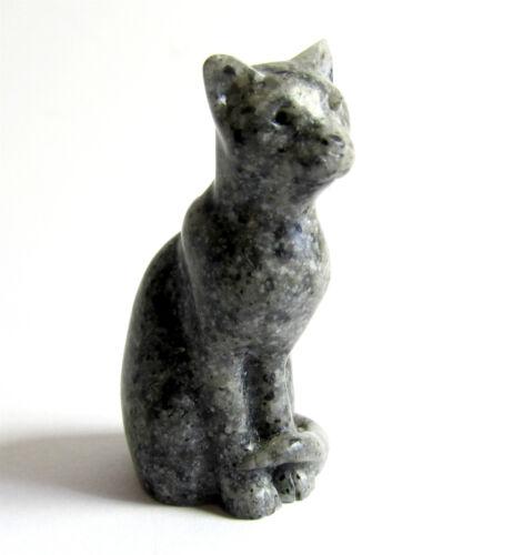"/""Simon/"" GREY Quintessence Miniature Stone Cat Figurine"