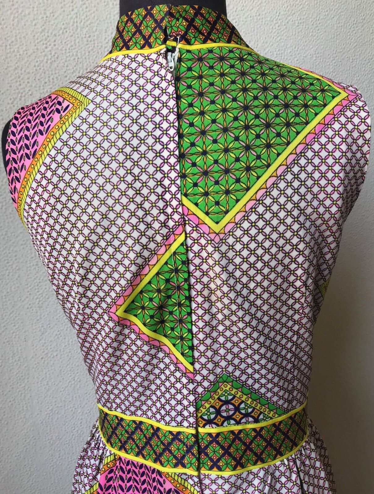 60's Really Cute Patchwork Mod Look Summer Maxi D… - image 6