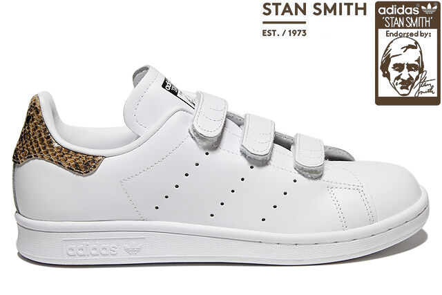 Adidas Originals para Stan Smith Serpiente Correa para Originals mujer Zapatillas Blanco Reino Unido 94197e