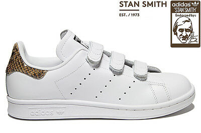 Adidas originals stan smith serpent bracelet femme baskets blanc uk taille  7 - 9.5 | eBay