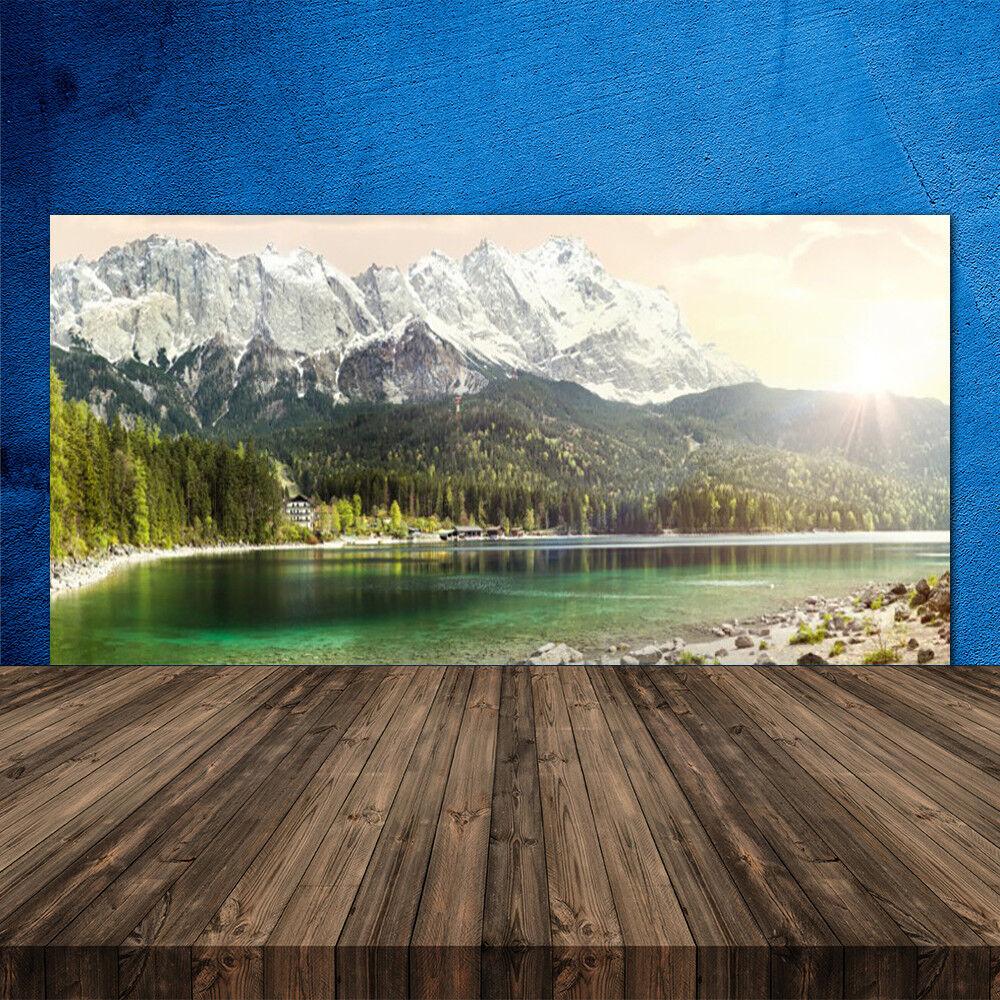Crédence de cuisine en verre Panneau 120x60 Paysage Forêt Montagnes Lac