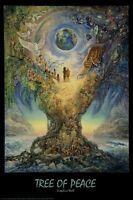 JOSEPHINE WALL ~ TREE OF PEACE 24x36 FANTASY ART POSTER Earth Rainbow Fairy