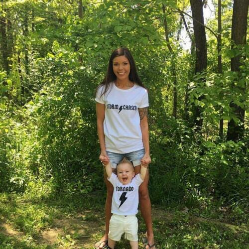 2 funny shirts TORNADO and STORM Chaser ™ mommy and me set mothers day gift ACDC