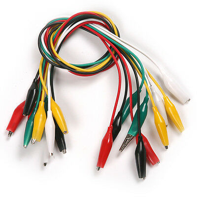 10pcs 500mm Double-ended Test Alligator Clip Jumper Probe Lead Cable Wire 50cm