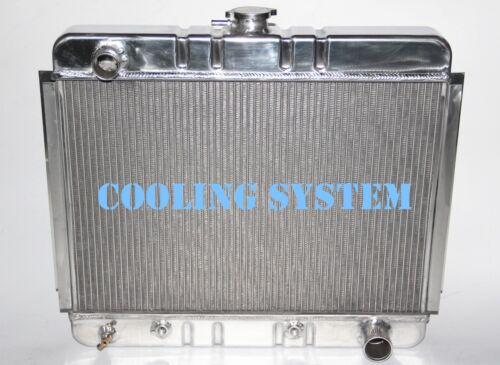 Polished KKS 3 Rows all aluminum radiator for1966 1967 chevy nova II V8 engines