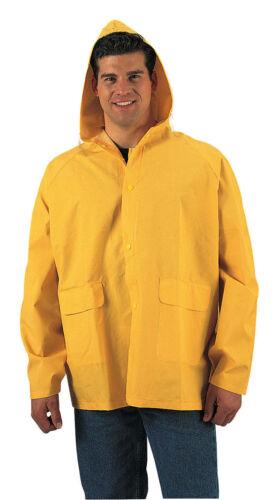 Classic Yellow PVC Rain Jacket With Hood Heavy Duty Rain Coat Rothco 3614