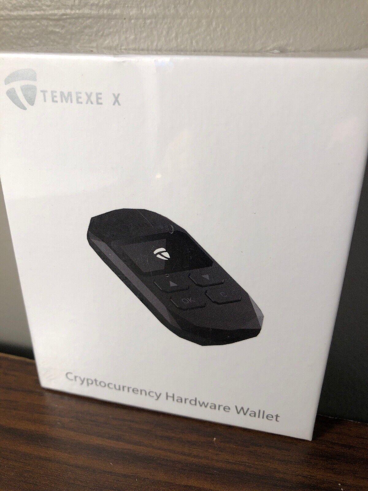 NEW Temexe X Cryptocurrency Hardware Wallet Bitcoin Ethereum ERC20 BTC ETH 1