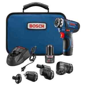 Bosch GSR12V-140FCB22 Flexiclick 5-In-1 Driver System Certified Refurbished