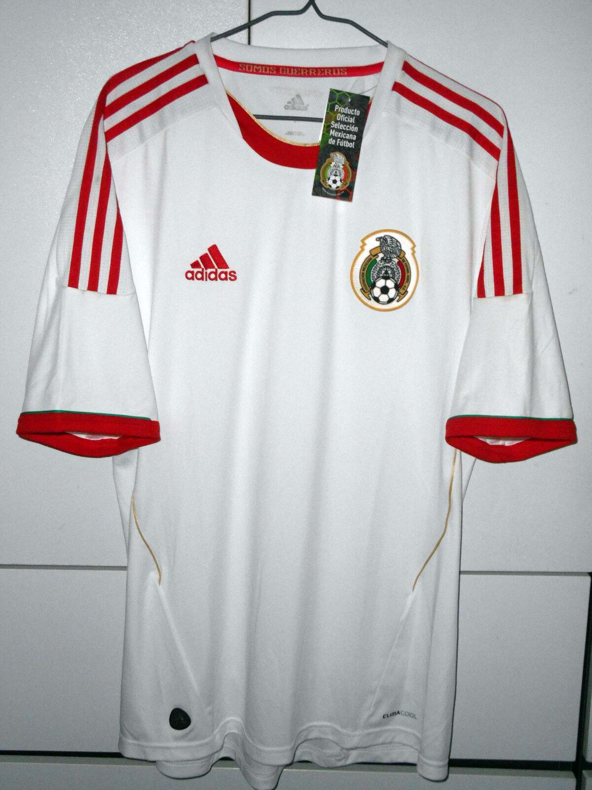 México Adidas Auténtico Fútbol Fútbol 2011-12 ventiladores Camisa Jersey lejos XL