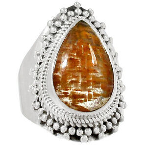 Artisan-Cacoxenite-925-Sterling-Silver-Ring-Jewelry-s-6-5-RR160065