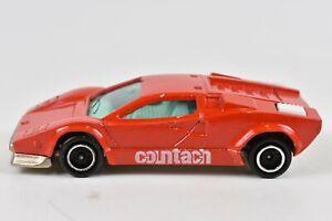 Majorette-Lamborghini-Countach-Red-and-White-1-56-Scale-237-Made-in-France