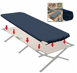 Fitted Camping Cot Sheet for Adult Sleeping Cots. Camping Bedding That fits Most