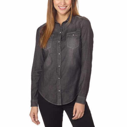dc4ff07d4a1 Calvin Klein Jeans Ladies  Denim Shirt Black Size Small for sale online