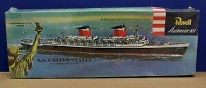 Revell-0312-H312-SS-United-States-Ocean-Liner-kit-Sealed-1-602-1953-1996-Reissue