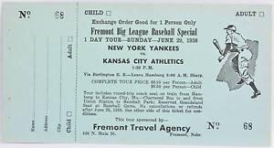 Details about 1958 New York Yankees Ticket MLB Baseball Mickey Mantle Roger  Maris Home Runs