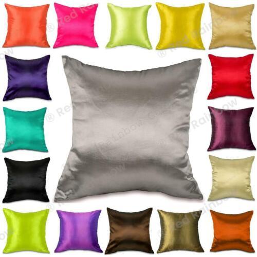 45 cm Cushion Cover Plain Taffeta 18 inch Many Colour Options