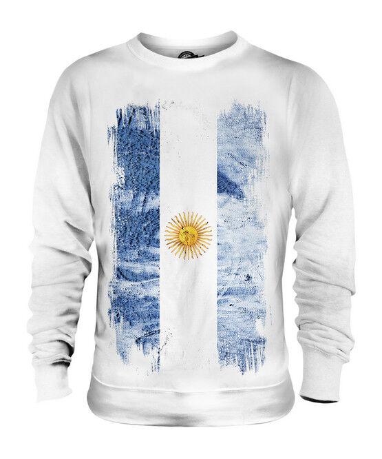 ARGENTINA GRUNGE FLAG UNISEX SWEATER TOP ARGENTINE ARGENTINIAN ARGENTINEAN