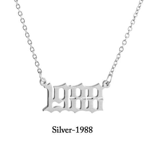 Necklace 1980 To 2019 Special Birth Date Year Number Pendant Women Personalized