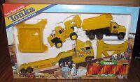 Vintage 1990 Tonka Toy Construction Play Set 1005 Semi Trailer Loader Truck
