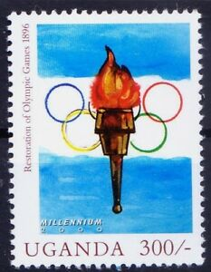 Uganda 2000 MNH,1896 1st modern Olympic in Athens, Sports, Millennium Stamp