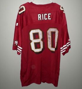 buy online 50381 46be1 Details about SAN FRANCISCO 49ERS old-school Jerry Rice football jersey  Starter beat-up 2XL