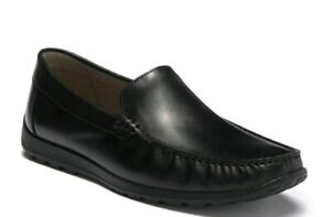 New-ECCO-Mens-Reciprico-Men-s-EU-45-US-11-11-5-Black-Leather-Loafers-Shoes