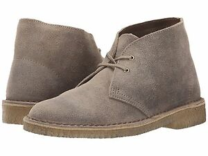 78e824d62 Image is loading Womens-Clarks-Desert-Boots-Taupe-Distressed-70304-26111504