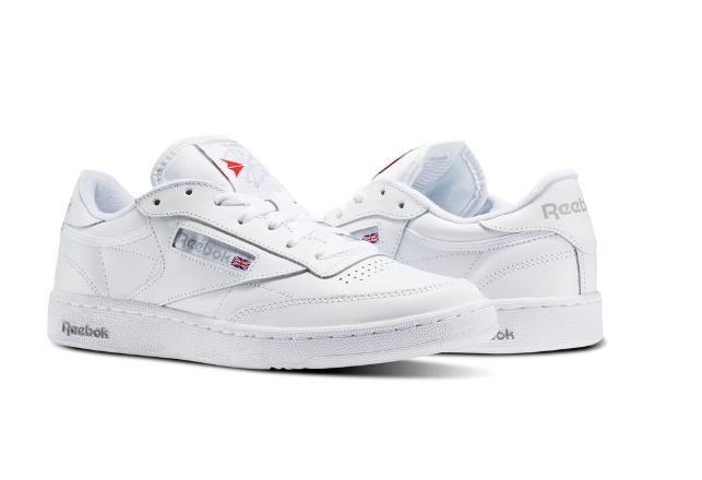 Reebok Uomo Classic Club C White-Sheer Grey Shoes