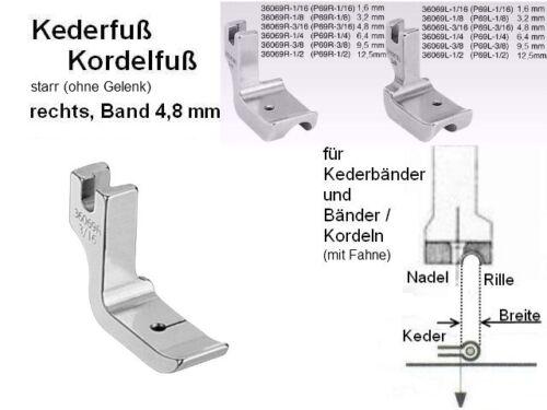 starr Kederfuß//kordelfuß sin articular a la derecha para cinta 4,8 mm; p69r 3//16