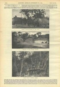 1898-Xingu-Indian-Tribe-Expedition-Meyer-Villages-Scientific-American-Vintage