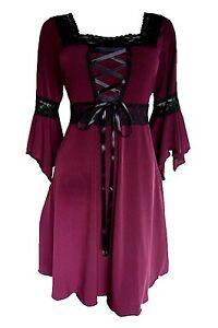 renaissance gothic victorian peasant burgundy red corset