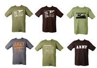 Military Army Combat T-shirt 50 Cal  Caliber SAS Afghanistan AK47 AK-47 Apache