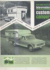 1970 Hi Lo Chevrolet Pickup Truck Camper Brochure wt3773