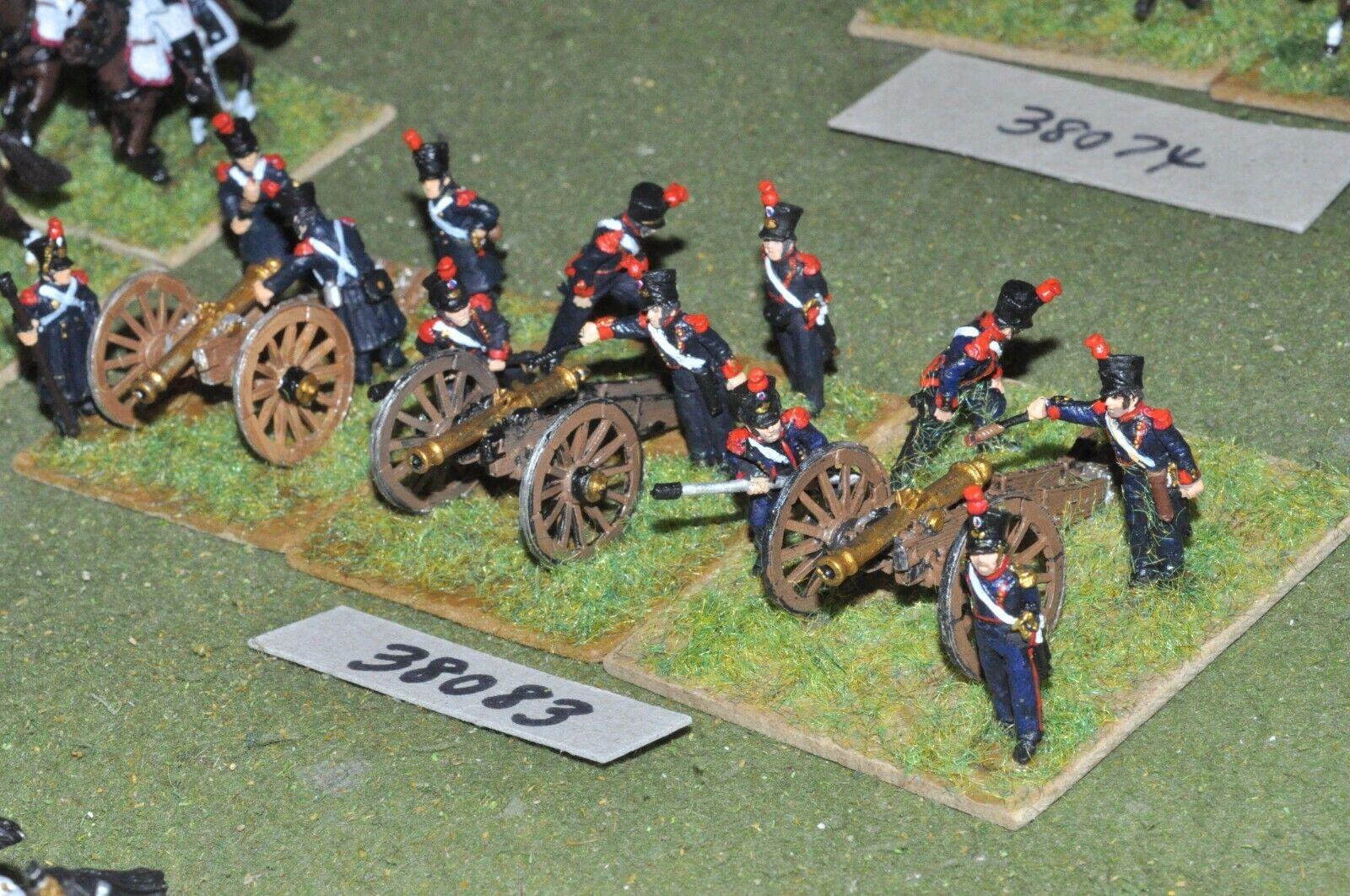 25mm napoleónicas francés - 3 pistolas & tripulaciones-Art (38083)