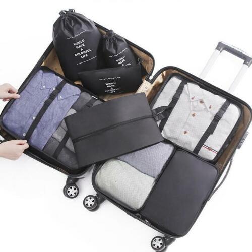 Set 8 cubetti di imballaggio-wantgor 6 organizer da viaggio BAGAGLIO BUSTE Compr
