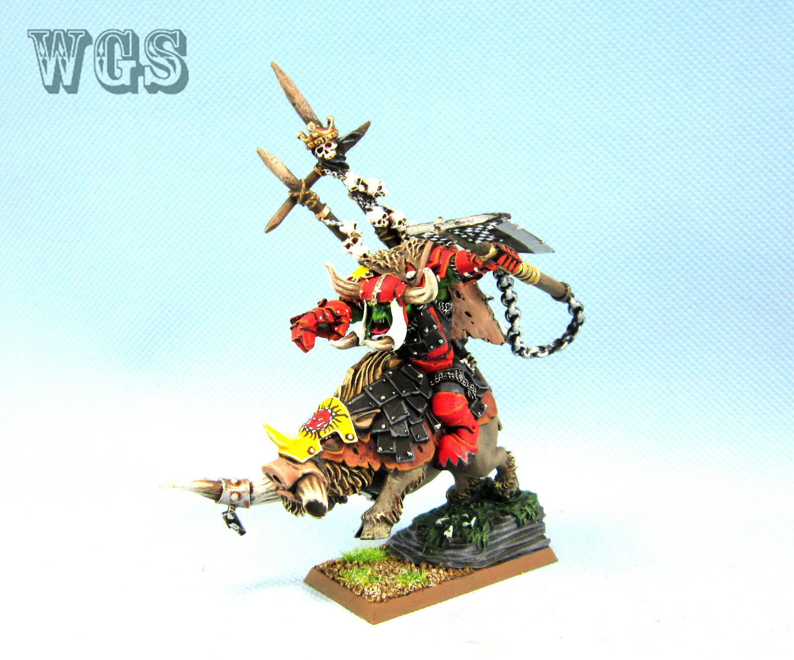 25mm Warhammer Fantasy WGS painted Orcs & Goblins Gorbad Ironclaw OR038