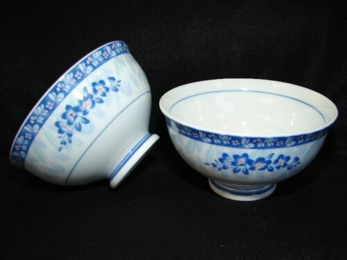 4 of Porcelain Blue and White Rice Bowls