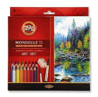 KOH-I-NOOR MONDELUZ AQUARELL PENCILS ARTIST COLOURED ART SET 24-72 3714