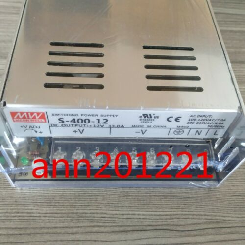 1PC NEW Meanwell Switching Power Supply S-400-12 12V 33A Single DC switch