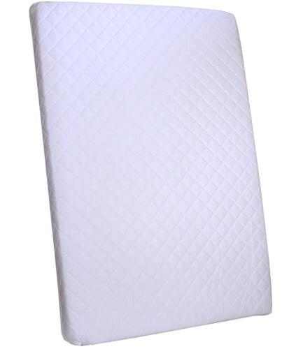 BabyPrem Travel Cot Mattress 95 x 65 x7.5cm Breathable Water Repellent Zip Cover