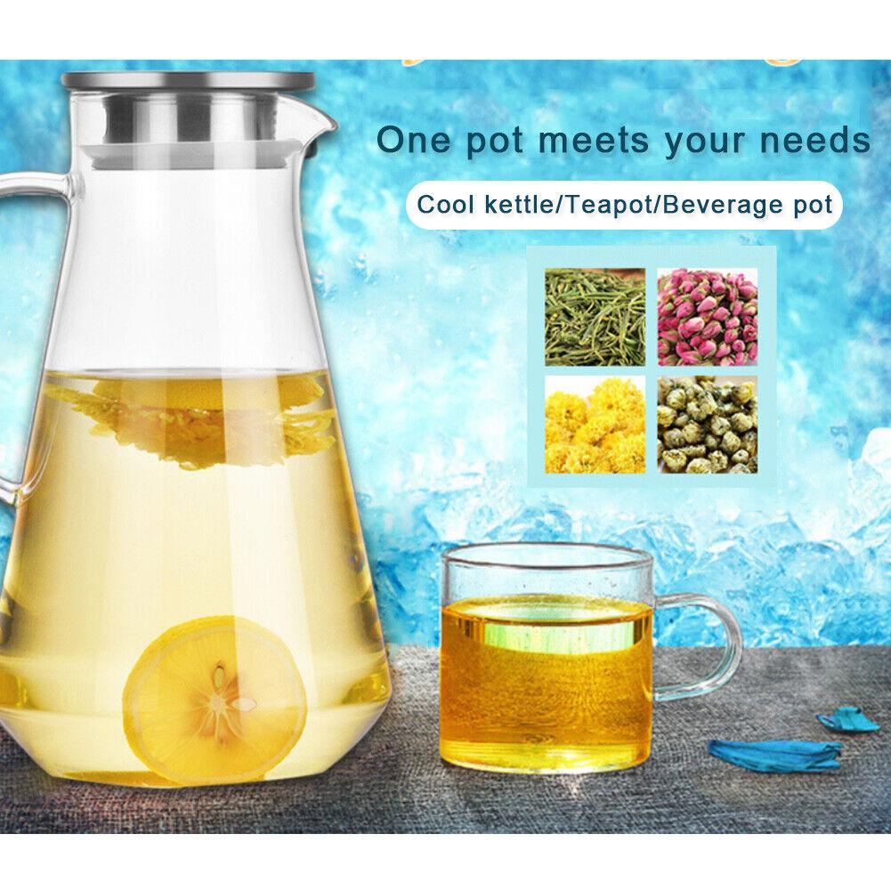 Glass Water Pitcher Heat Kettles L Filter Water Jug