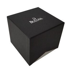 Bulova-Original-New-Empty-Black-and-Silver-Watch-Gift-Box-With-Pillow