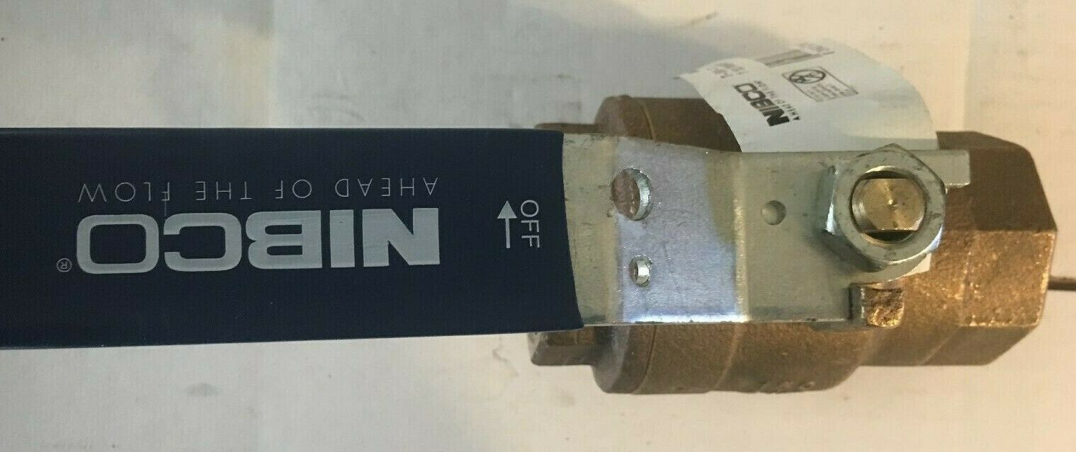 "Box of 10 Nibco T-585-70 1//4/"" Threaded Bronze Ball Valve T-580-70 NL95004"