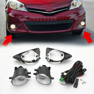 Pair-Fendinebbia-W-Switch-Wiring-Cover-Kit-Per-2012-2014-Toyota-Yaris-Hatch-IT