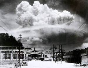 POSTER PRINT PHOTO COMPOSITION NUCLEAR ATOMIC BOMB MUSHROOM CLOUD FACE SEB626