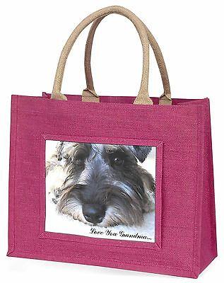Schnauzer-hund 'Liebe dich Oma' Große Rosa Einkaufstasche Weihnachten,