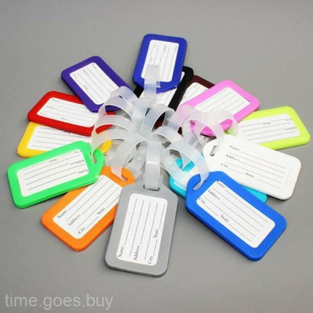 10X New Travel Outdoor Suitcase Name Address ID Label Baggage Luggage Tags Tag